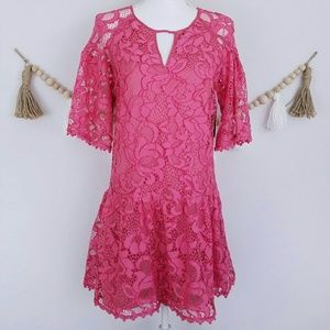 Juicy Couture Black Label Pink Lace Dress NWT Mini
